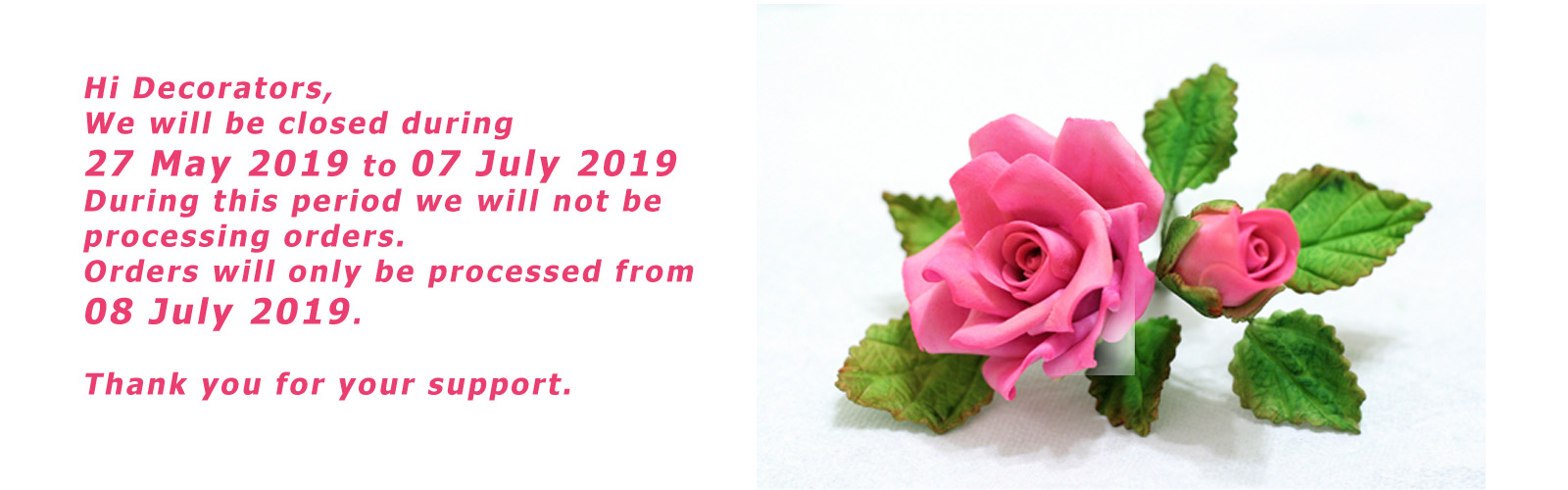 2019 Closed banner
